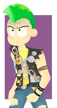 Punk Morty by TiredDivide