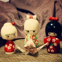 Kokeshi + Crane by animeotaku0321