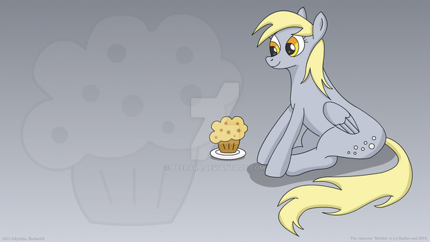 Derpy Muffin Wallpaper by beebarb