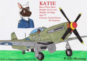 Katie and her P-51D Mustang by DingoPatagonico