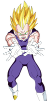 Vegeta SSJ Render/Extraction PNG by TattyDesigns