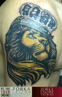 Lion and crown by zorka calore tattoo by surfboyz12