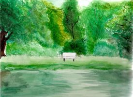 White bench by Mistress-D