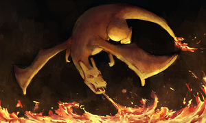 Charizard Use Flamethrower by ArtExxo