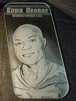 Eddie George Etched Glass Art Window by ImaginedGlass