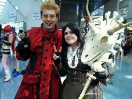 Vash and Alice spread Love and Peace by OPlover