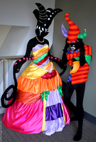 The Queen and her Jester by galaxeys