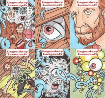 LEGENDARY LOVECRAFT SKETCH CARDS SET 9 by Tyrant-1