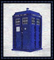 Embroidered Tardis 001 - PinkAngel001 by PinkAngel001