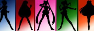 sailor scouts - shadows by AnimeElf