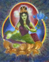 The Green Tara by PearlWhitecrow
