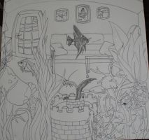 Fish tank perspective WIP by Ljtigerlily