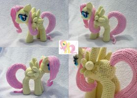 Fluttershy Amigurumi other views by LeFay00