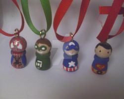 Marvel ornaments by LilPKCreations