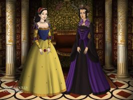 Snow White and her Jealous Stepmother the Queen by Kailie2122