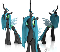 Queen Chrysalis Finished Render by Calistomaniac