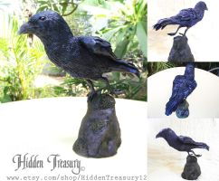 Crow Commission sculpture by Hidden-Treasury