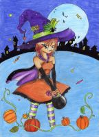 Halloween Witch by Little-cuddly-bear