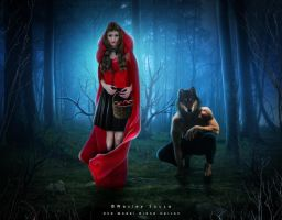 Little Red Riding Hood and the Bad Wolf by Wesley-Souza