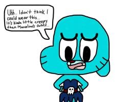 Gumball in Fabienne's Outfit by MigsGarcia5127
