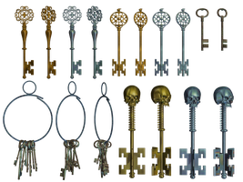 Keys PNG Stock by Roys-Art