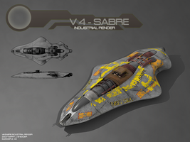 V4 - Sabre Industrial Render by CrusaderAlpha