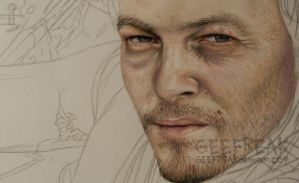Daryl Dixon- WIP1 by GeeFreak