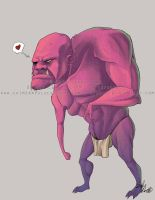 Tiny the gimpy pink ogre. by Rynnay
