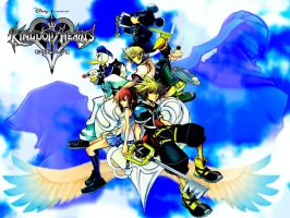 Kingdom Hearts Wallpaper by BlackHarpyGoddess