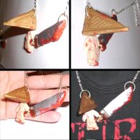Silent hill pyramid head necklace by spaztazm