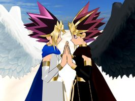 Yami and Yugi Hand in Hand by MMDLowdisan