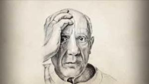 Pablo Picasso Pencil Portrait Stop Motion by Kolon by FunBeing
