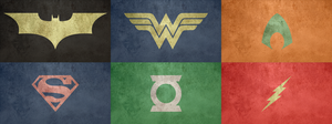 Justice League logo set by amorphousobject