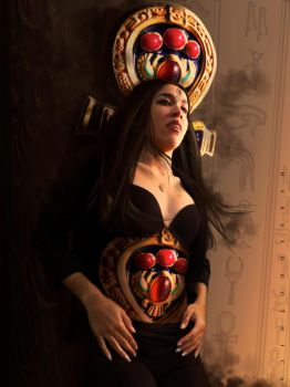 Ritual of the Scarab Priestess. by hybridgothica