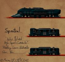 Steampunk Monorail Train by betasector