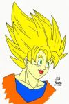 SSJ Goku by Nick-Kazama