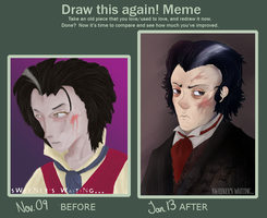Before and After: Sweeney Todd by Sophalone