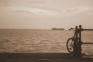 bicycle by the sea by mihmann