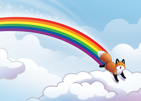 StupidFox Rainbow - Poster by SilentReaper