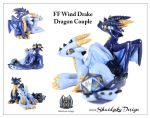 FF Wind Drake Dragon Couple by ShaidySkyDesign
