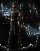 I sense dark spawn:DA: Origins - Mage-Warden by nightmarez0mbie