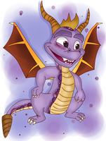 ( Spyro ) A Goofy Looking Purple Boi Collab by KrazyKari