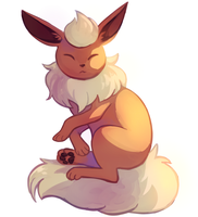Flareon resting by Flavia-Elric