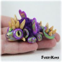 Polymer Clay Dragon by KIMMIESCLAYKREATIONS
