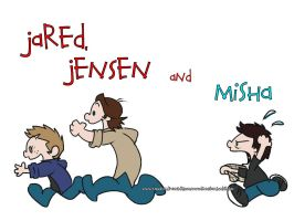 Jared, Jensen and Misha by KamiDiox