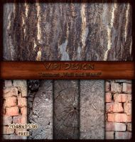 Textures Wall and Wood by elixa-geg
