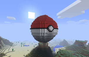 Minecraft - 3D pokeball by Tailef