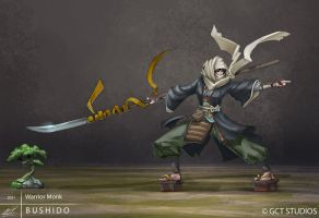 BUSHIDO - Warrior Monk by dinmoney