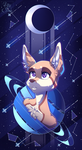 Space fox by KittyTheSilence
