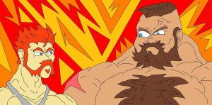 Sheamus meets Zangief by McGreger16